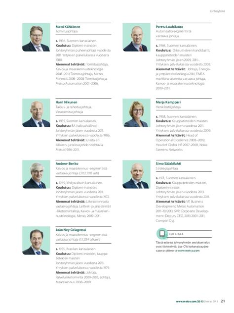 Bse Mba Review by Metso Annual Review 2013 Vuosiesite 2013