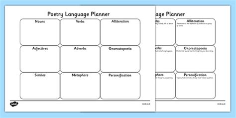 year 1 pattern and rhyme poetry planning poetry planner sheet poetry poem poem planner poetry