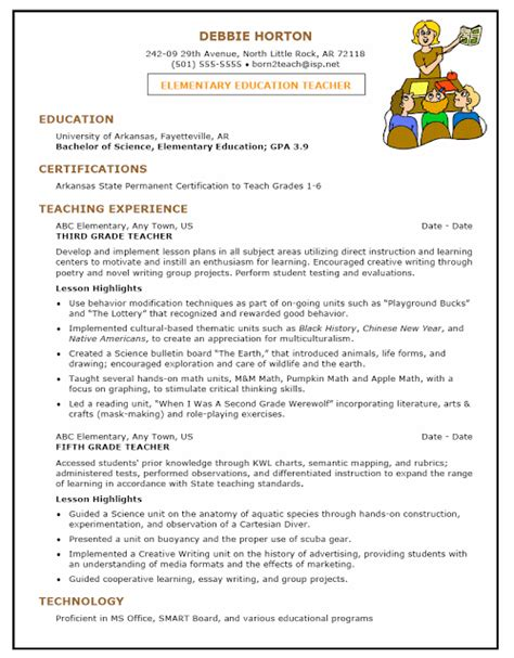 preschool teacher resume sles sle resumes
