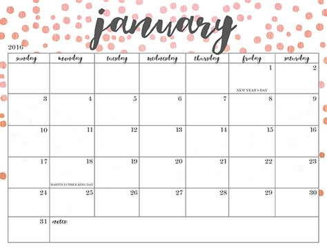 Downloadable Calendar Free Printable 2016 Calendars Oh So Lovely