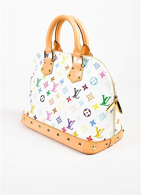 louis vuitton louis vuitton white multicolore monogram