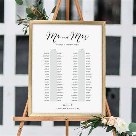 Wedding Table List Template by Banquet Seating Chart 2 Tables Banquet Table Plan