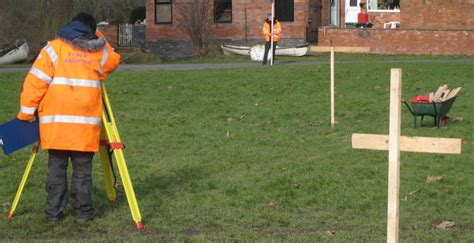 layout of building using theodolite surveying and setting out training course for site engineers