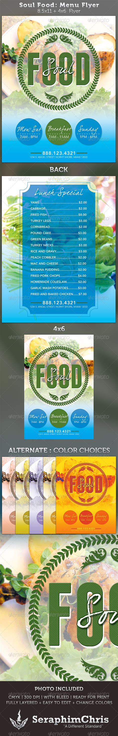 Sle Soul Food Dinner Flyer 187 Tinkytyler Org Stock Photos Graphics Graphicriver Iii Flyer Template