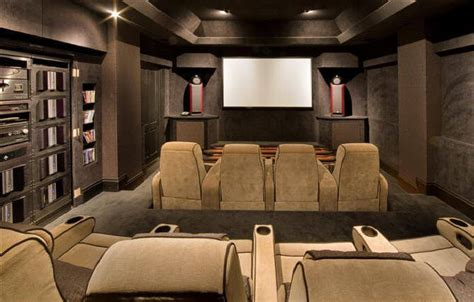 Luxury Cinema Room by Classical Italian Baroque Architecture