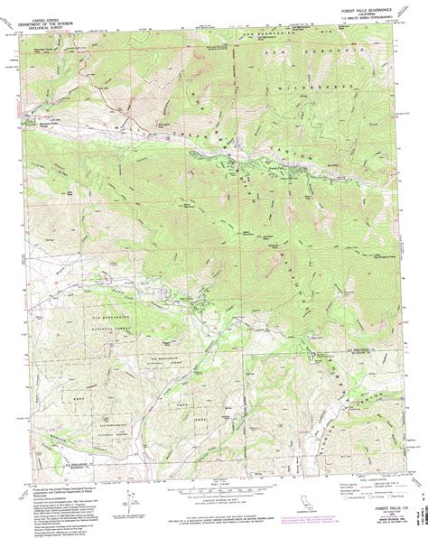 topographical map of southern california forest falls topographic map ca usgs topo 34116a8