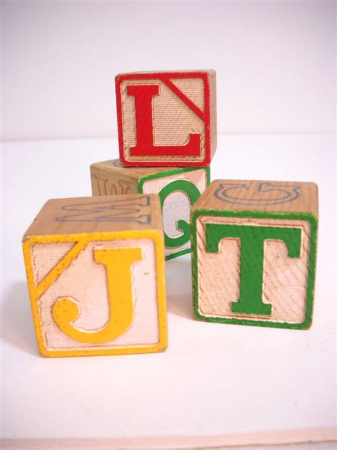 Hiasan Vintage Photo Blocks Antique vintage wooden blocks large childrens nursery blocks abc123