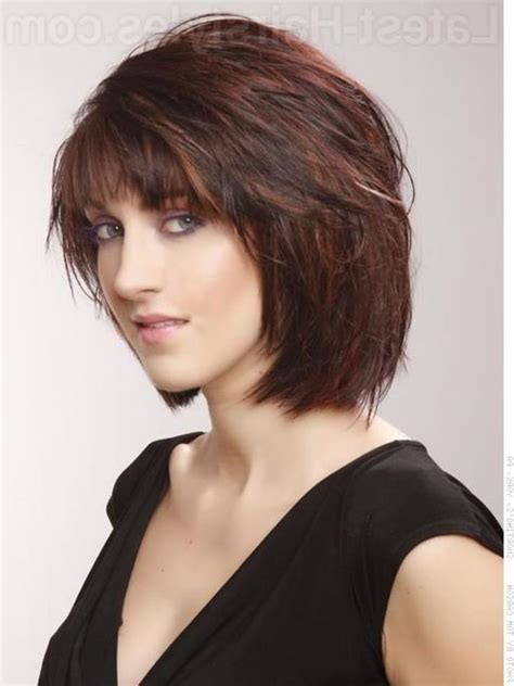 hairstyles feathered layers angled chin length bob haircuts layered chin length bob with