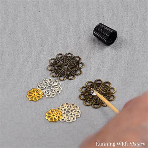 Filigree Rosette Earrings Running With