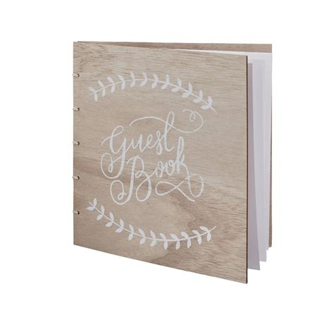 guest book picture boho wooden wedding guest book by