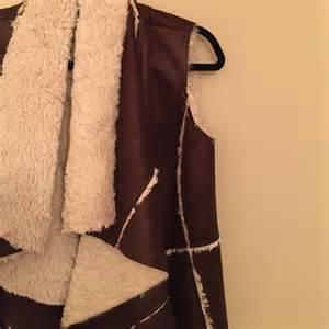 faux shearling drape jacket 83 mcginn jackets blazers mcginn faux shearling
