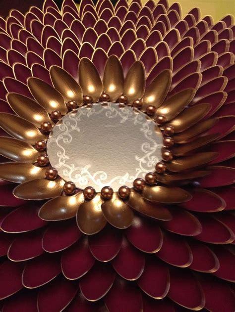 diy decoracion de espejos  cucharas  como
