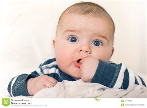baby boy baby boy baby boy with big blue stock photo image