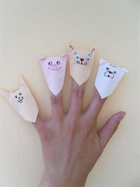 Origami Finger Puppets - 6 ideas to entertain at a restaurant inner