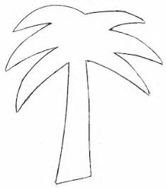 Palm Tree Stencil Outline by Palm Tree Printable Template Clipart Best
