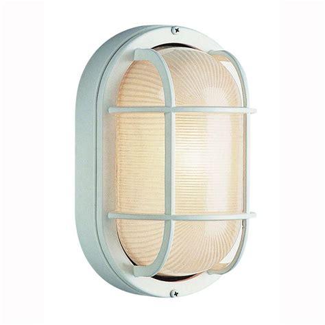 Bel Air Lighting Bulkhead 1 Light Outdoor White Wall Or Bulkhead Light Fixture