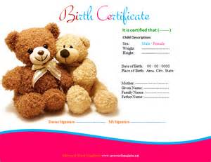 build a birth certificate template certificate templates save word templates