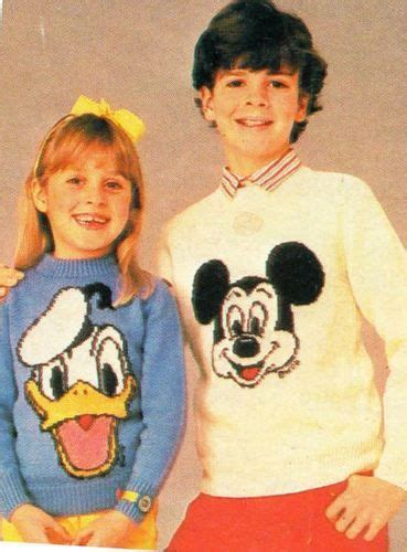 Jumper Baby Donald knitting pattern childrens mickey mouse donald duck sweaters jumper donald o connor vintage