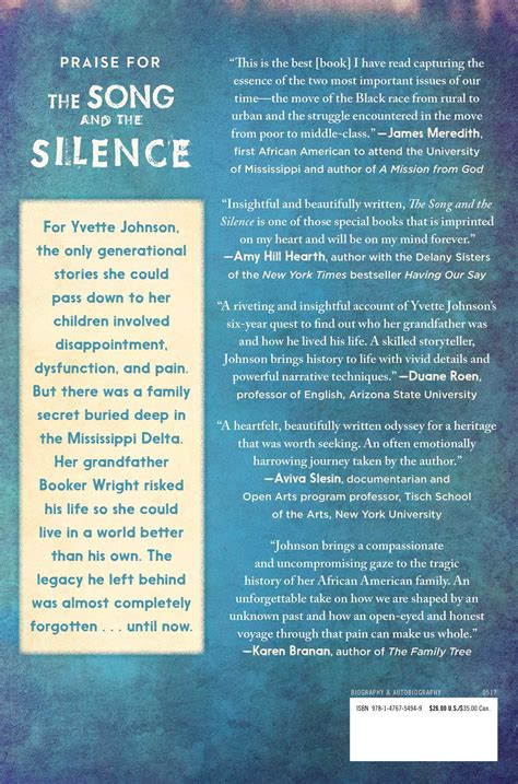 of silence and song books the song and the silence book by yvette johnson
