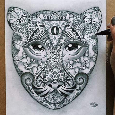 tattoo mandala illuminati great ornate tiger head with illuminati tattoo design