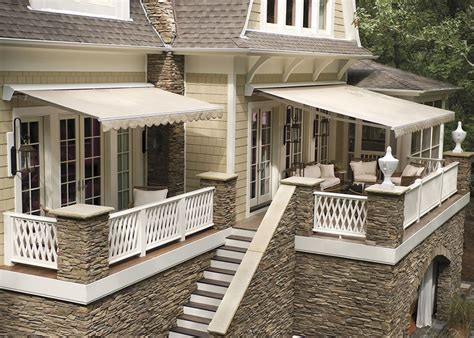 sunbrella awnings for home retractable awnings houston tx