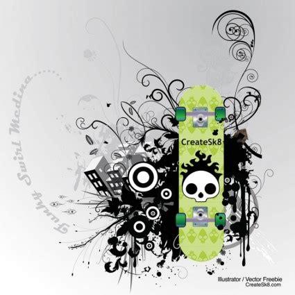 Skateboard Design Vorlagen skate grafiken vektor misc kostenlose vector kostenloser
