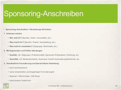 Beispiel Anschreiben Sponsoren Kultursponsoring