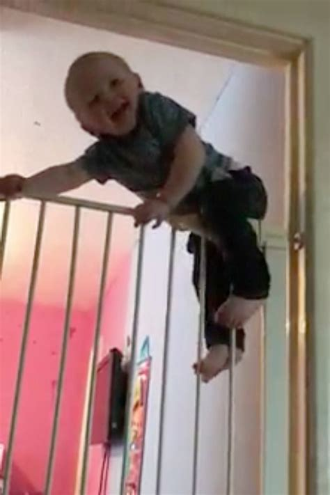 high climbing houdini toddler escapes from bedroom by