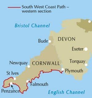 South West Coast Path South National Trail Map Booklet