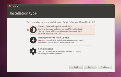 install windows 10 alongside ubuntu 14 04 what does quot install ubuntu alongside windows 7 quot actually