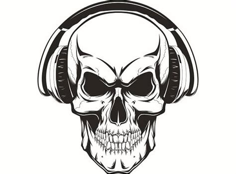 Skull Headphones skull headphones 1 wave listening wireless skeleton
