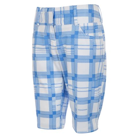 Adidas Apparel Shorts Checked S94796 adidas performance womens climalite checked golf shorts