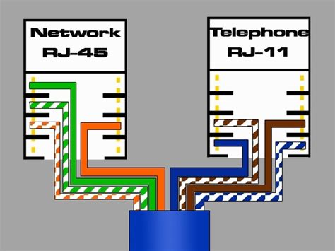 rj11 cable wiring diagram telephone wiring diagrams