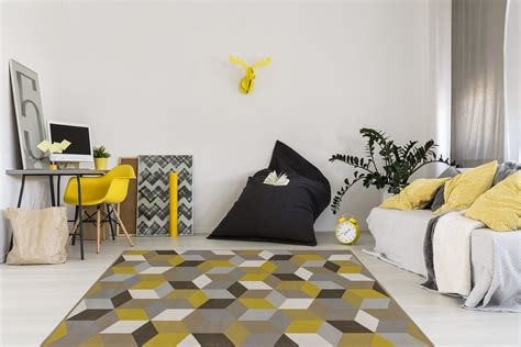 Tapis Geometrique by Tapis G 233 Om 233 Trique Style Scandinave Or Grizly