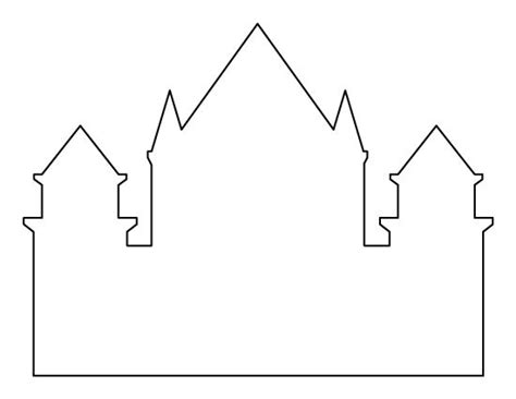 castle template for castle pattern use the printable outline for crafts