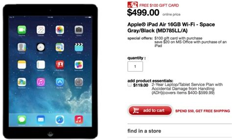 Target Gift Card Iphone 7 - target offering gift cards up to 100 with purchase of ipad iphone ipod touch mac