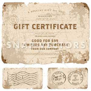 Vintage Gift Certificate Template by Vector Vintage Gift Certificate Template Snap Vectors
