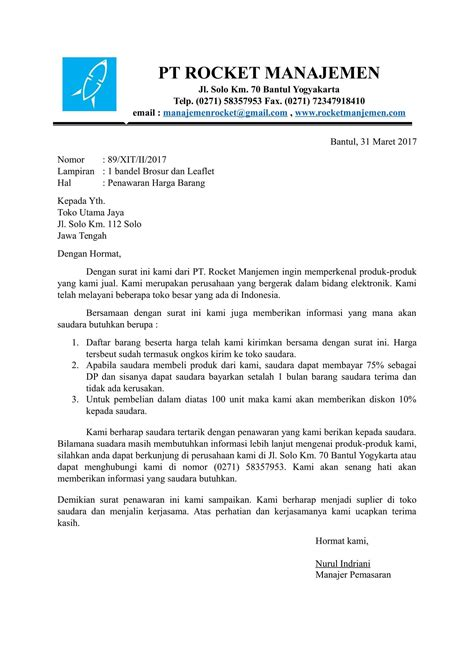 Contoh Surat Permintaan Produk by Contoh Penawaran Produk Pdf To Jpg Easypolv