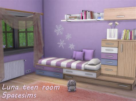 luna bedroom furniture luna teen room by spacesims at tsr 187 sims 4 updates