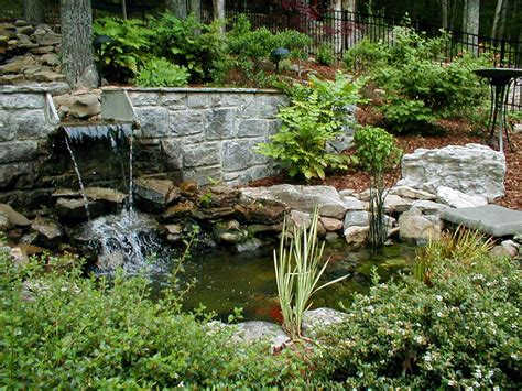 Waterfall Ponds Backyard Marvelous Idea For Backyard Pond Pictures Landscape With