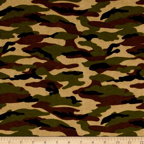 Tag Wholesale Home Decor by Comfy Flannel Camo Green Discount Designer Fabric