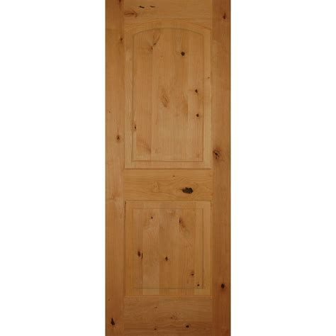 Pacific Entries 30 In X 80 In Rustic Unfinished 2 Panel Solid Wooden Interior Doors