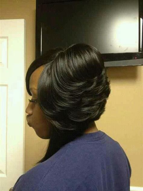 freather black bob hairstyles on pinterest feathered bob sew ins and sew