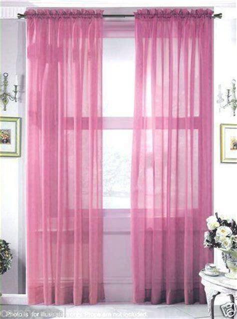 rose colored sheer curtains rose sheer curtain ebay