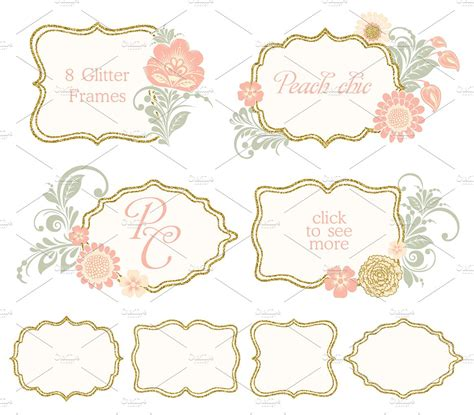 pink pattern header floral flower glitter gold peach chic pink collection