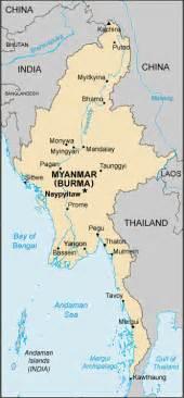 political map of myanmar map burma myanmar centre for intercultural learning