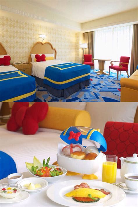 disneyland themed hotel donald duck themed room at the ambassador hotel at tokyo