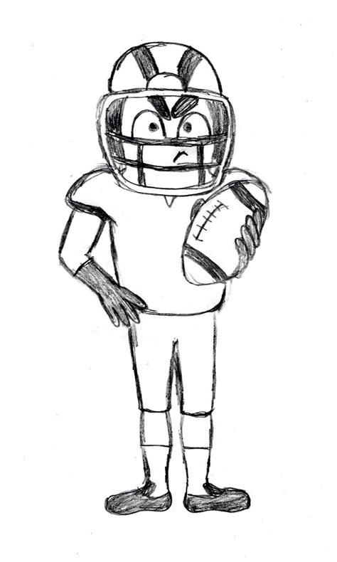Drawing 2 Player by Best 25 Football Player Drawing Ideas On Best