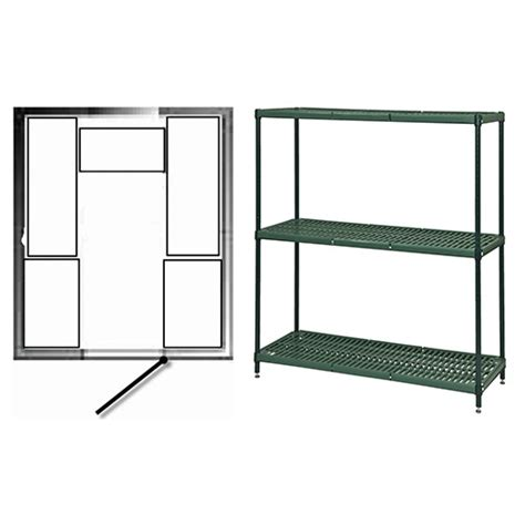 focus foodservice kit walk in cooler and freezer shelving for 8 ft x 10 ft nor lake door on 8