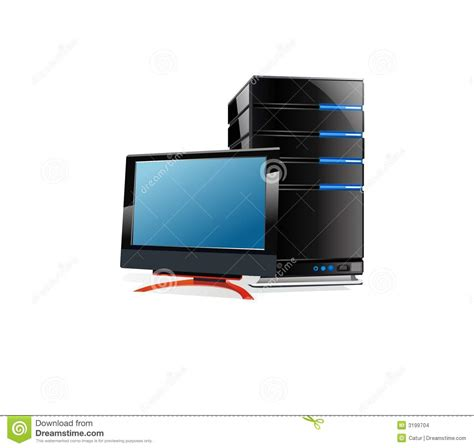Monitor Lcd Cpu lcd monitor and cpu stock images image 3199704